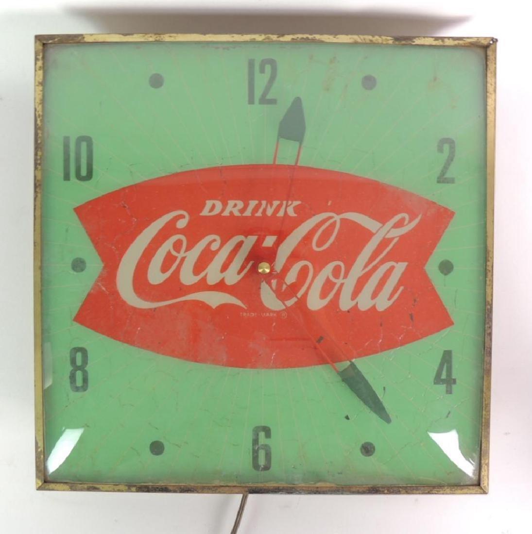 Vintage Coca-Cola Advertising Light Up Clock