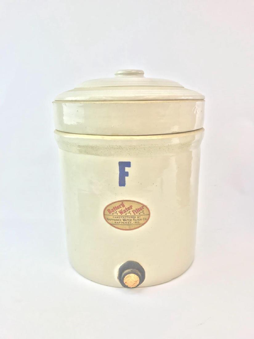 Antique Stoneware Battery Water Filter 3 Gallon Crock