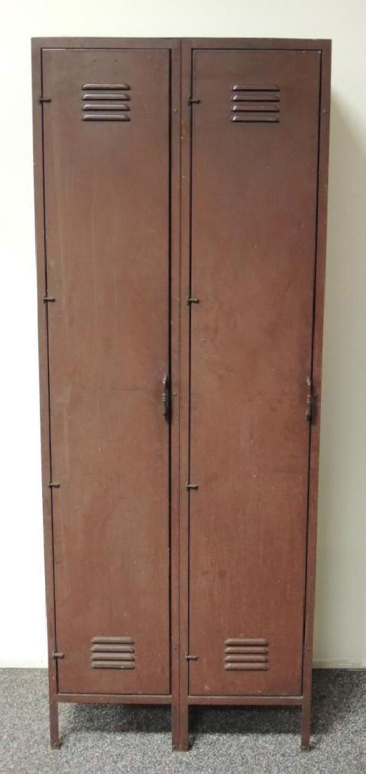 Vintage Industrial 2 Door Metal Locker