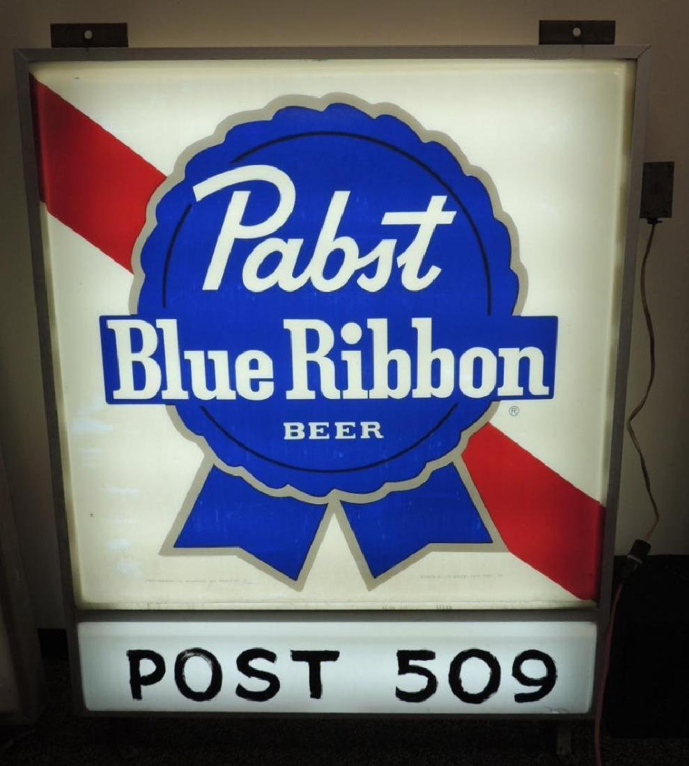 Vintage Pabst Blue Ribbon Double Sided Light Up - 2