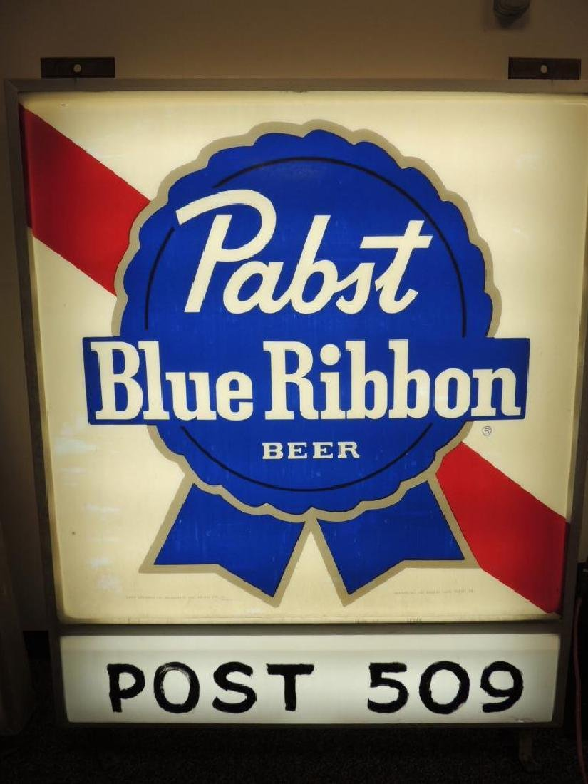 Vintage Pabst Blue Ribbon Double Sided Light Up - 3