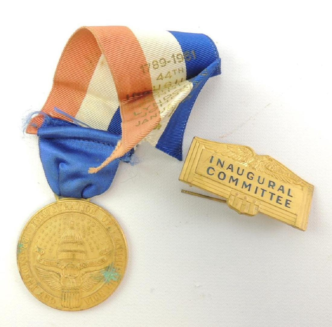 Group of 1961 Presidential Inauguration Medal and Pin