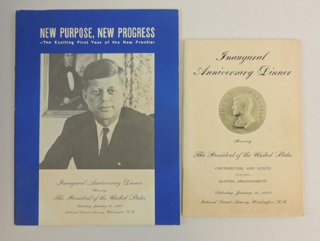 Group 2 Booklets : 1962 Inaugural Anniversary Dinner