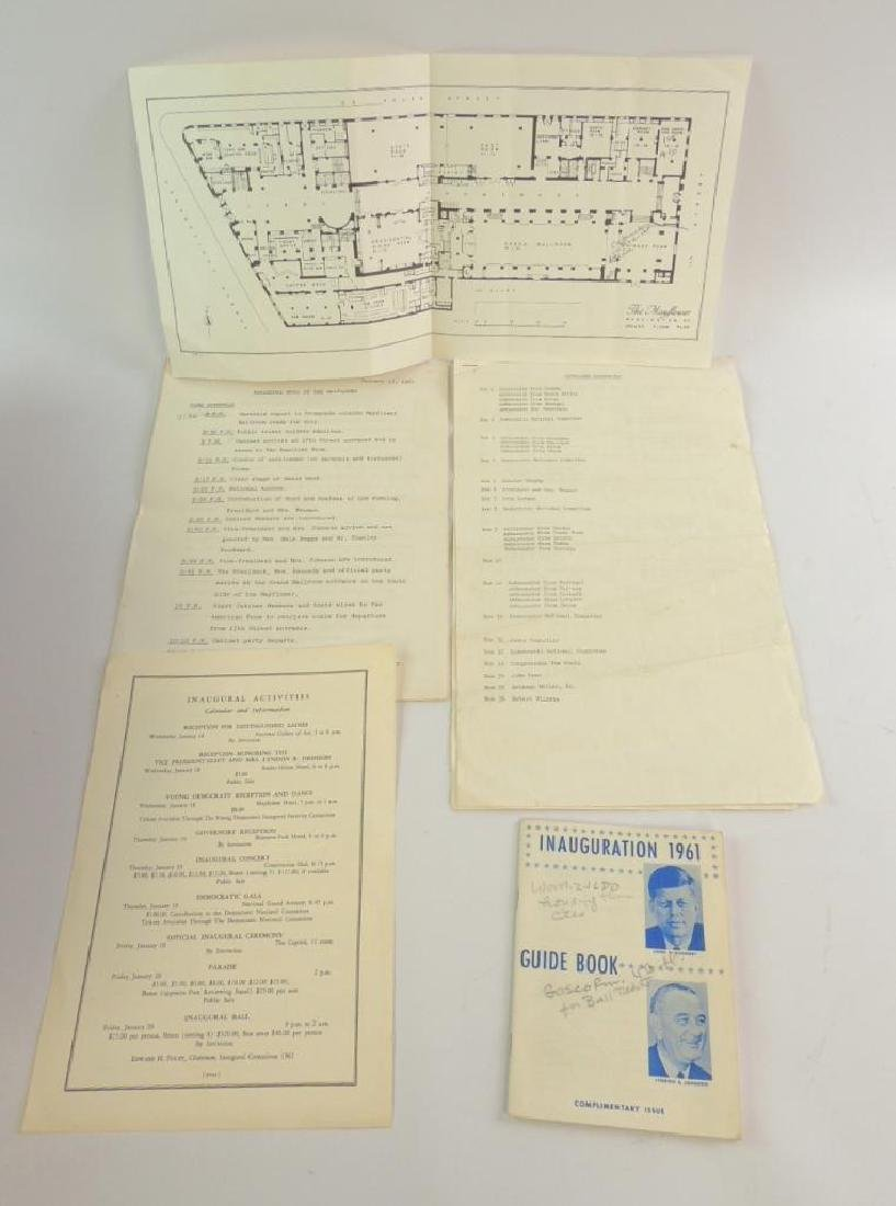 Group of 1961 Presidential Inauguration Documents :