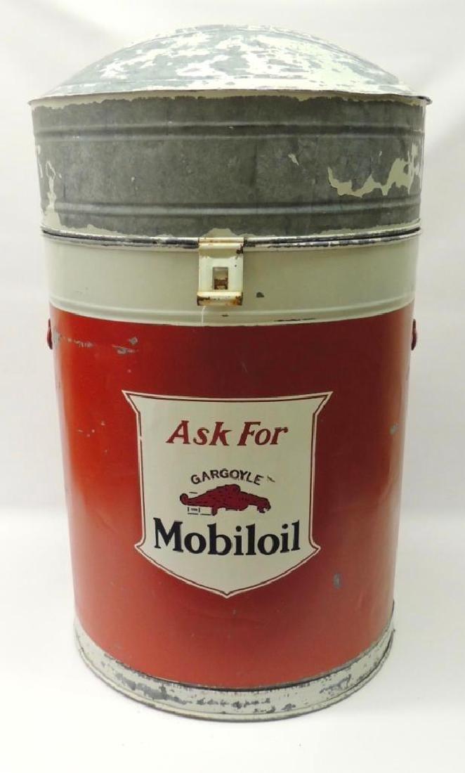 Vintage Mobil Oil Gargoyle Advertising Parts Washer