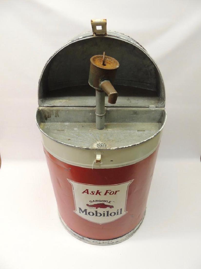 Vintage Mobil Oil Gargoyle Advertising Parts Washer - 2