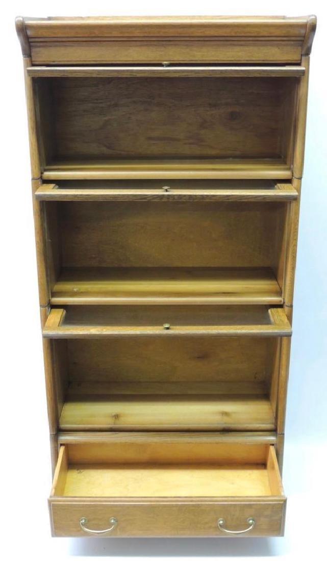 Antique Quarter Sawn Oak Lawyer Stack Bookcase - 2
