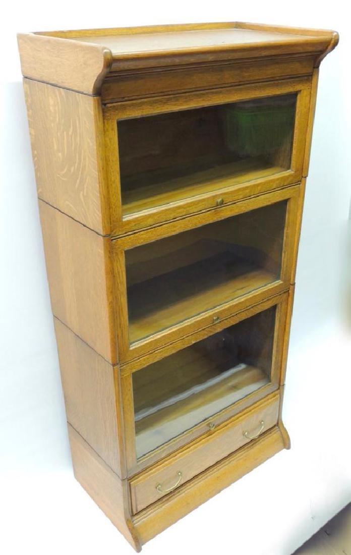 Antique Quarter Sawn Oak Lawyer Stack Bookcase - 3