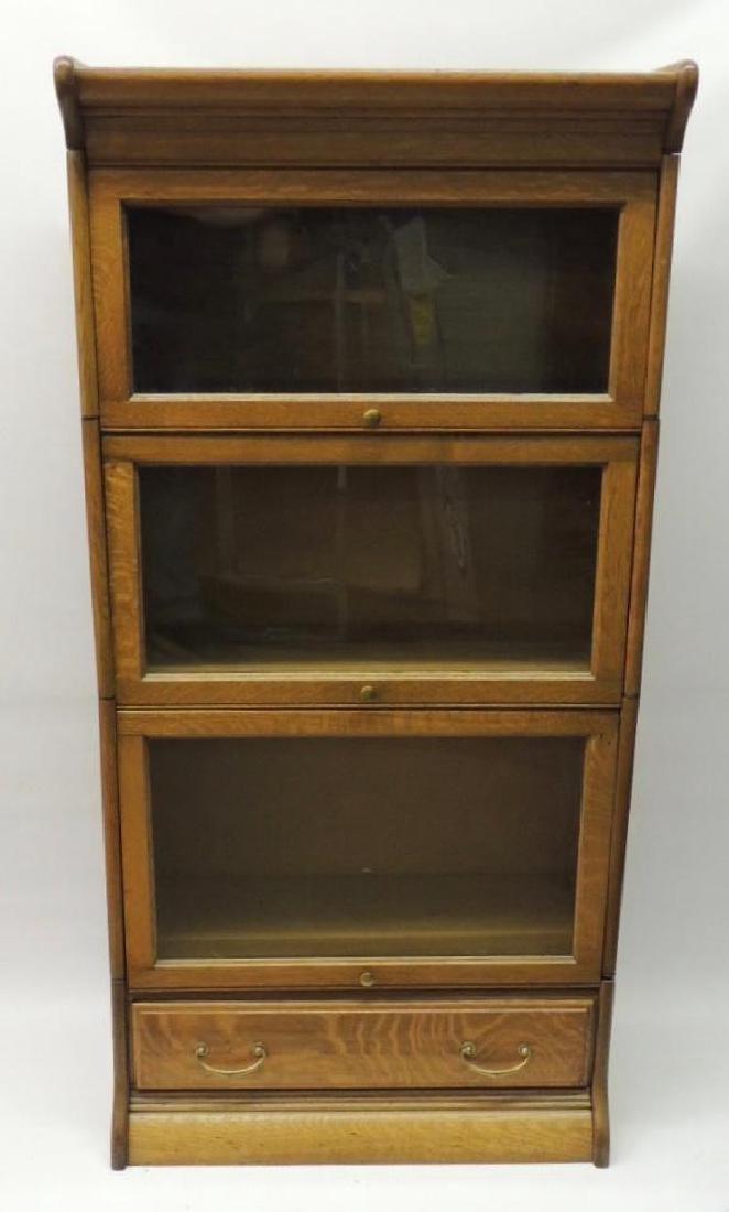 Antique Quarter Sawn Oak Lawyer Stack Bookcase