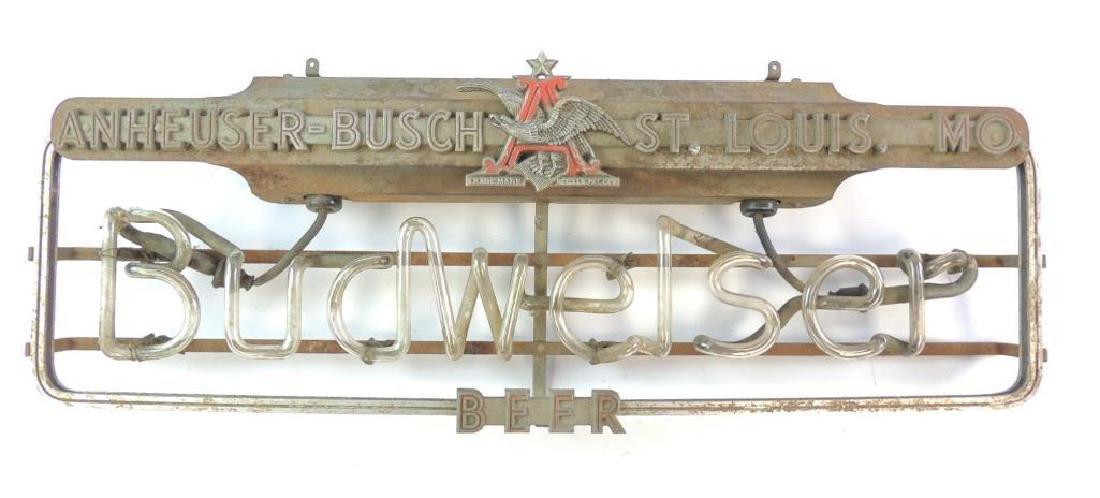 Antique Pre Prohibition Era Budweiser Neon Sign