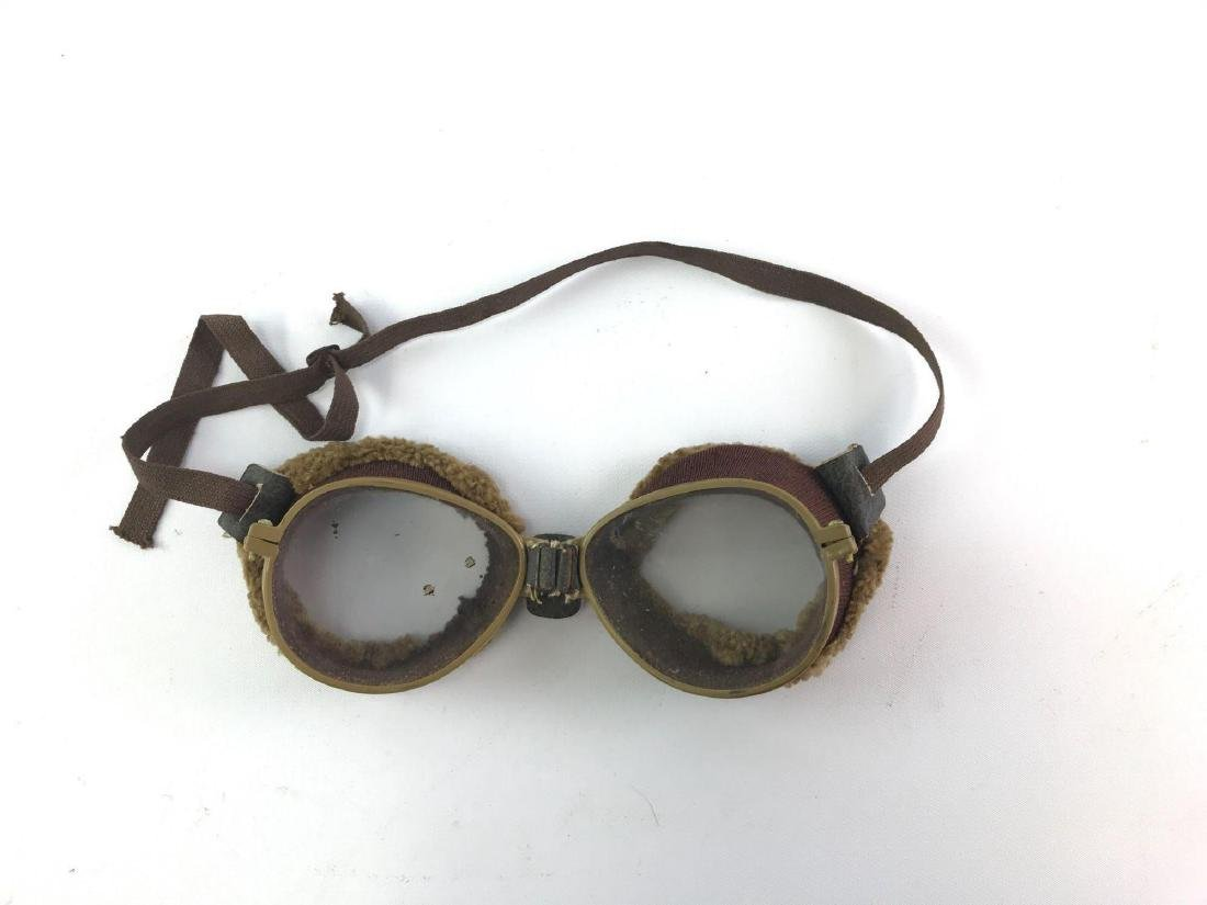 Pair of Antique Motorcycle/Aviation Goggles