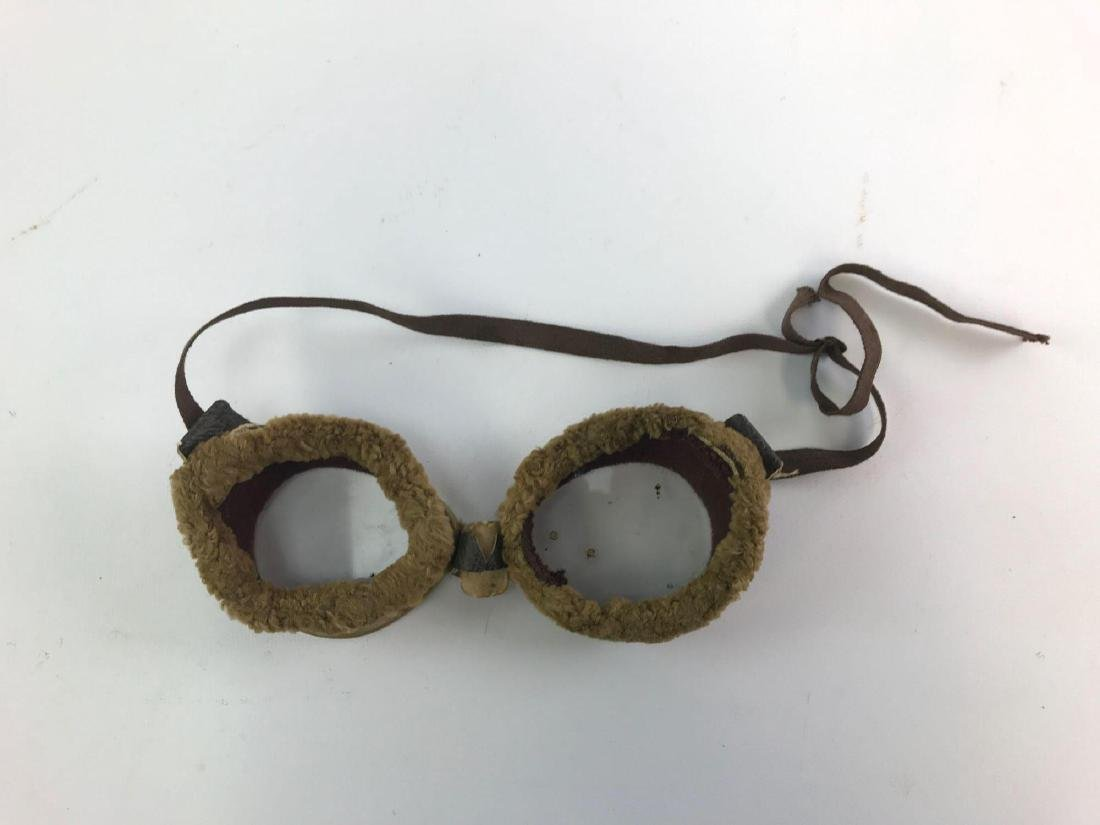 Pair of Antique Motorcycle/Aviation Goggles - 2