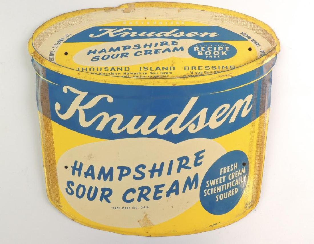 Vintage Knudsen Hampshire Sour Cream Embossed