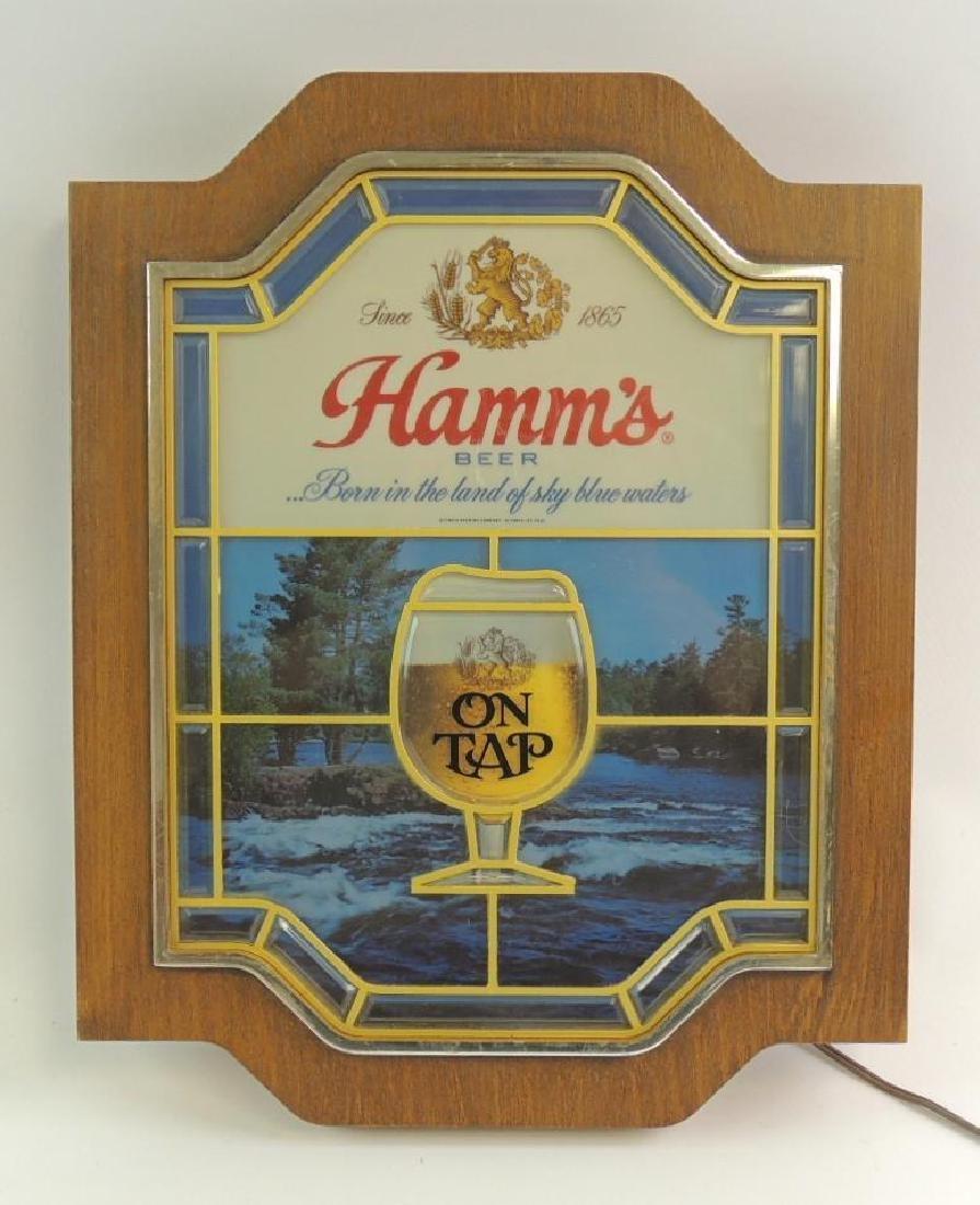Vintage Hamm's On Tap Light Up Advertising Beer Sign
