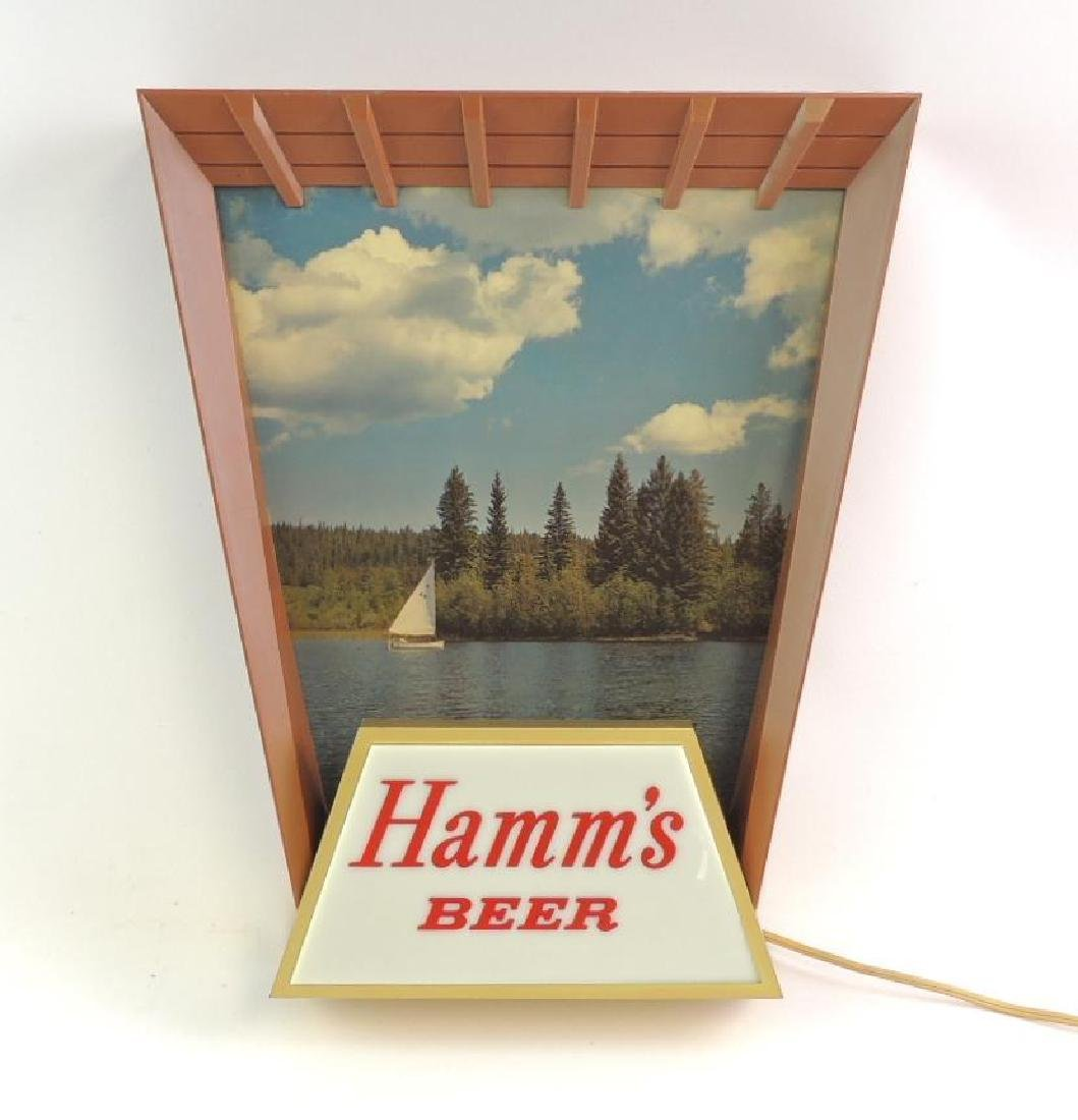 Vintage Hamm's Beer Advertising Light Up Beer Sign