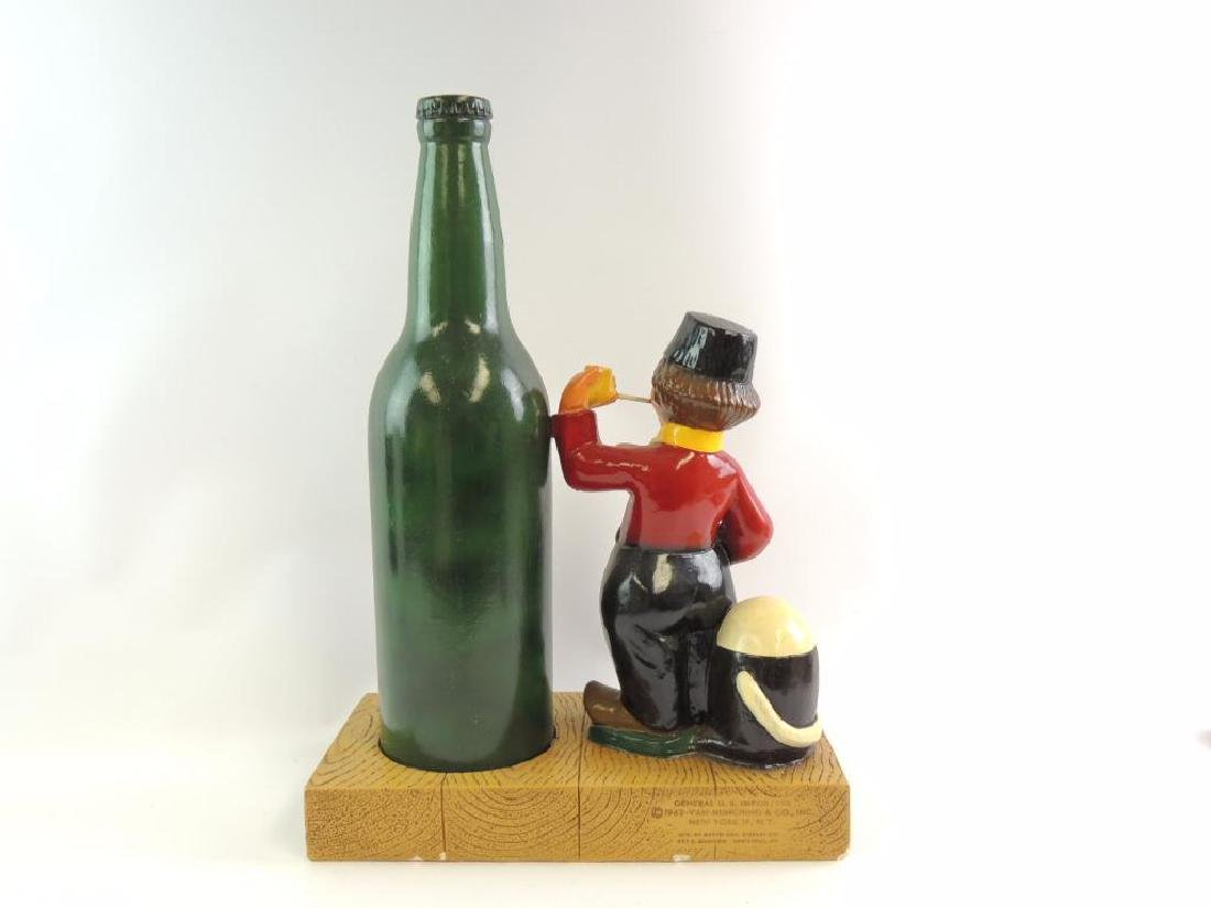Vintage 1962 Heineken Beer Advertising Plaster Statue - 2