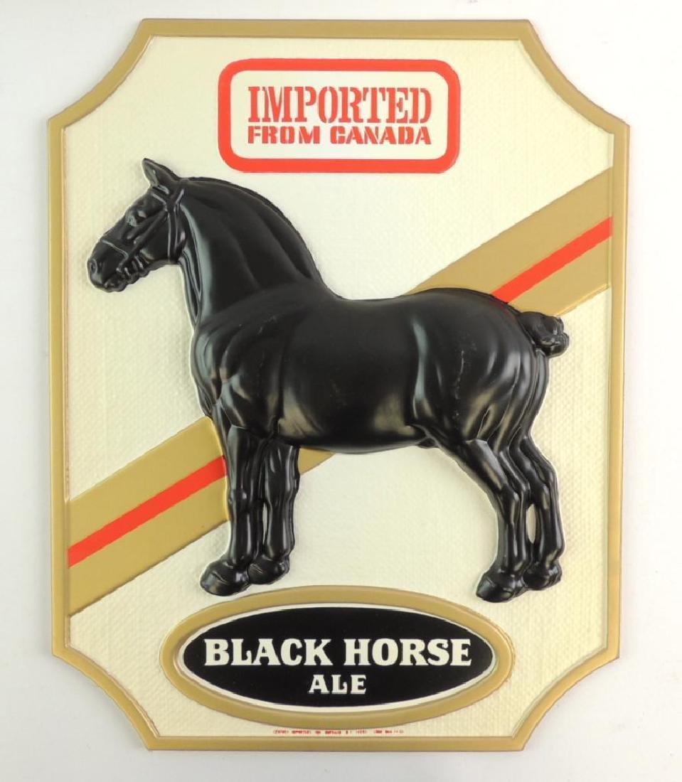 Vintage Black Horse Ale Vacu Formed Plastic Advertising