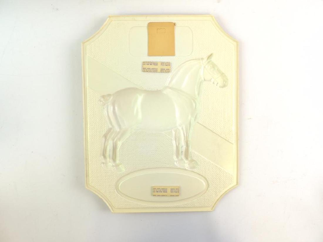 Vintage Black Horse Ale Vacu Formed Plastic Advertising - 2