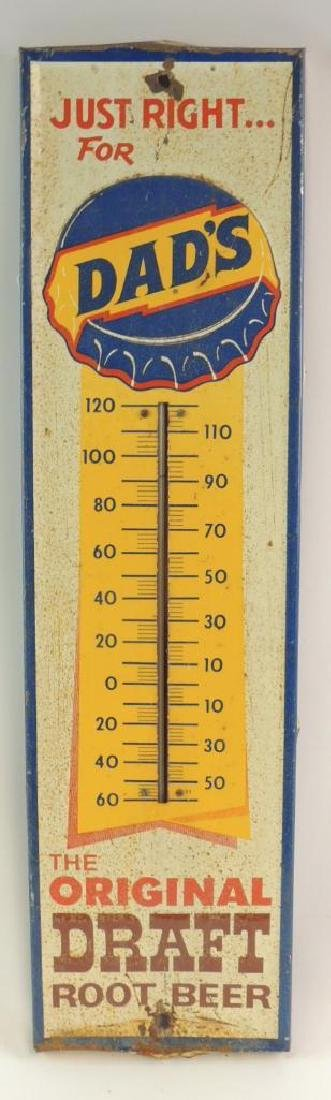Vintage Dad's Root Beer Advertising Thermometer