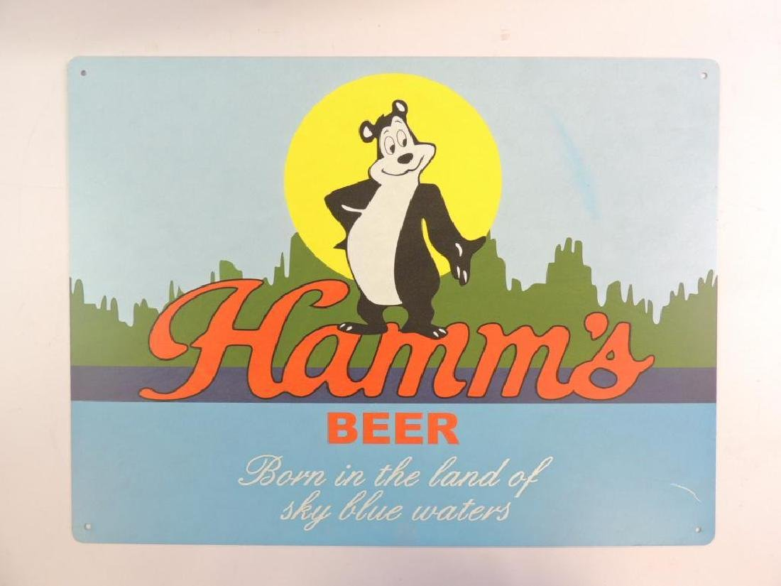 New Hamm's Beer Advertising Metal Beer Sign