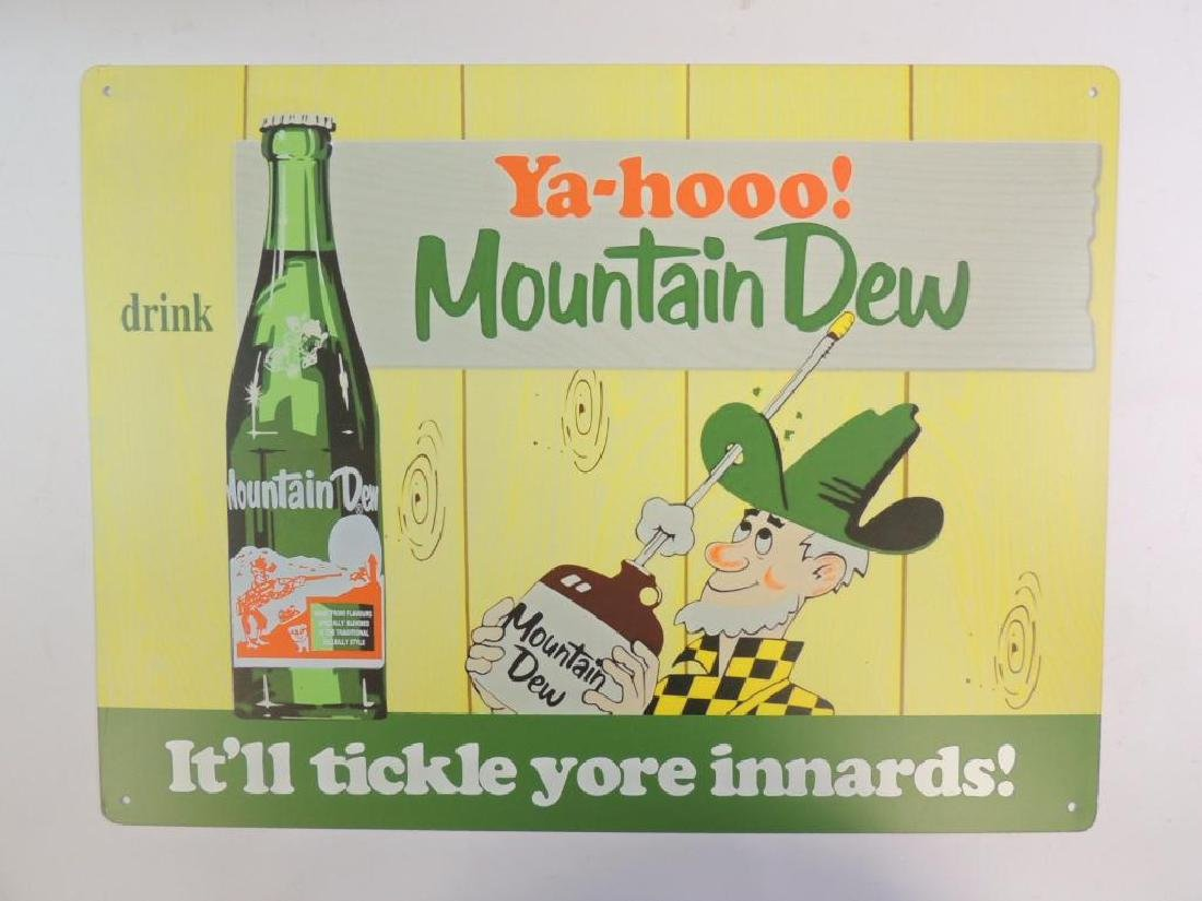 New Ya-Hooo! Mountain Dew Advertising Metal Sign