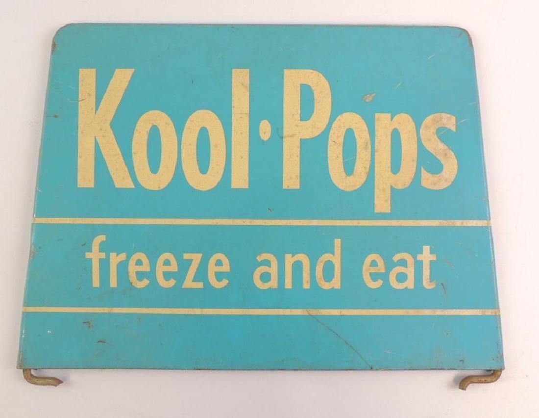 Vintage Kool Pops Freez and Eat Advertising Metal Sign