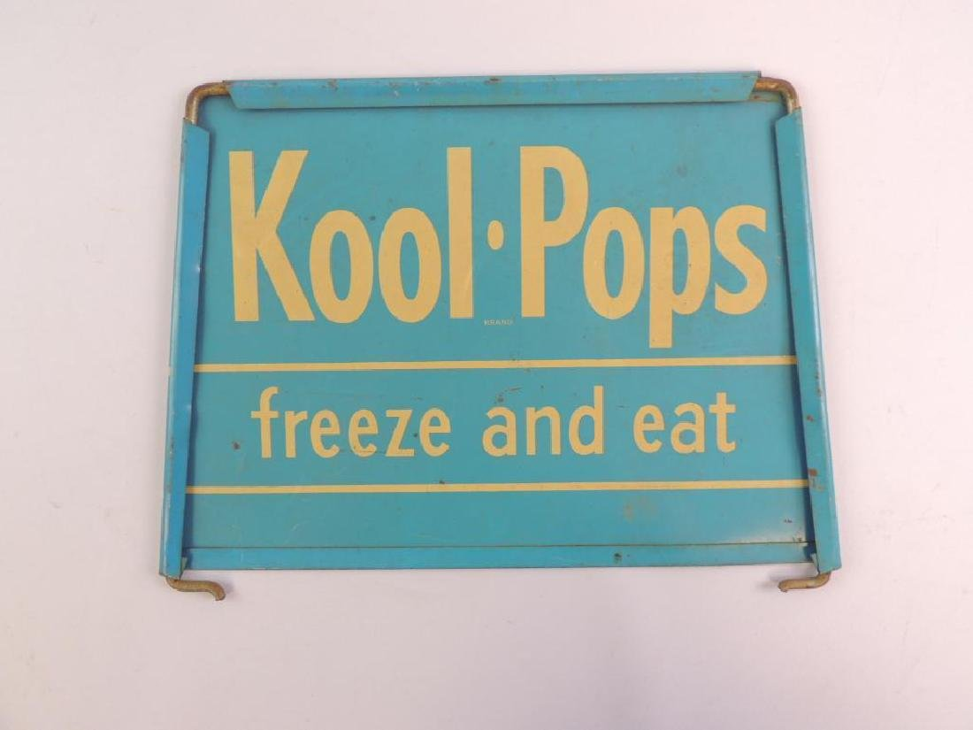 Vintage Kool Pops Freez and Eat Advertising Metal Sign - 2