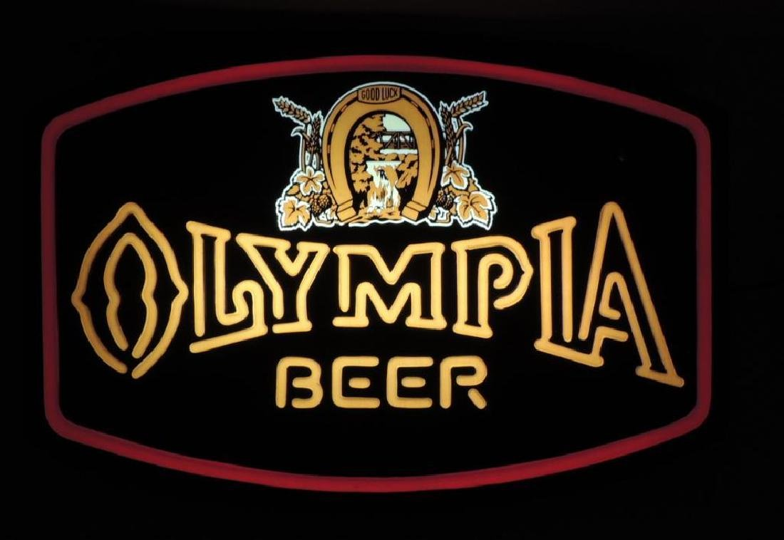 Vintage Olympia Beer Neon Style Advertising Light Up