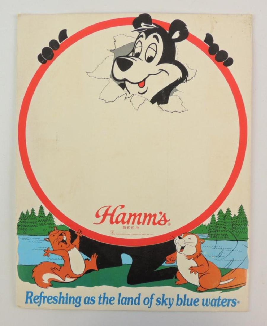 Vintage Hamm's Beer Advertising Counter Top Sign