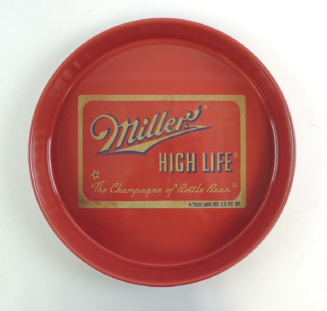 Vintage Miller High Life Advertising Beer Tray