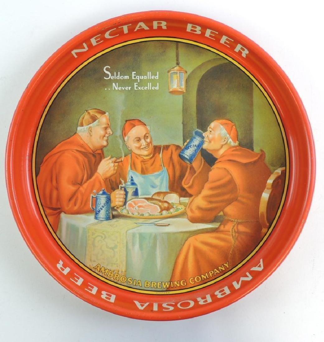 Vintage Nectar Beer Advertising Beer Tray
