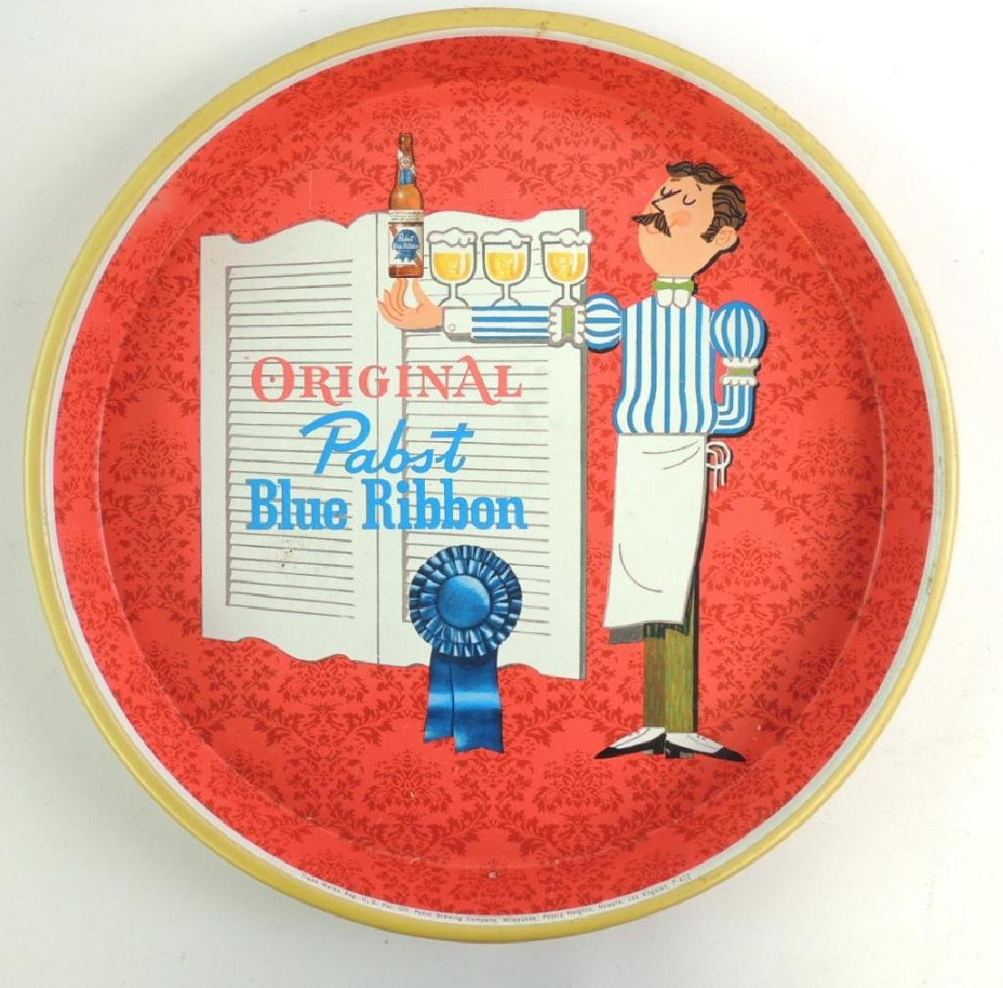 Vintage Pabst Blue Ribbon Advertising Beer Tray