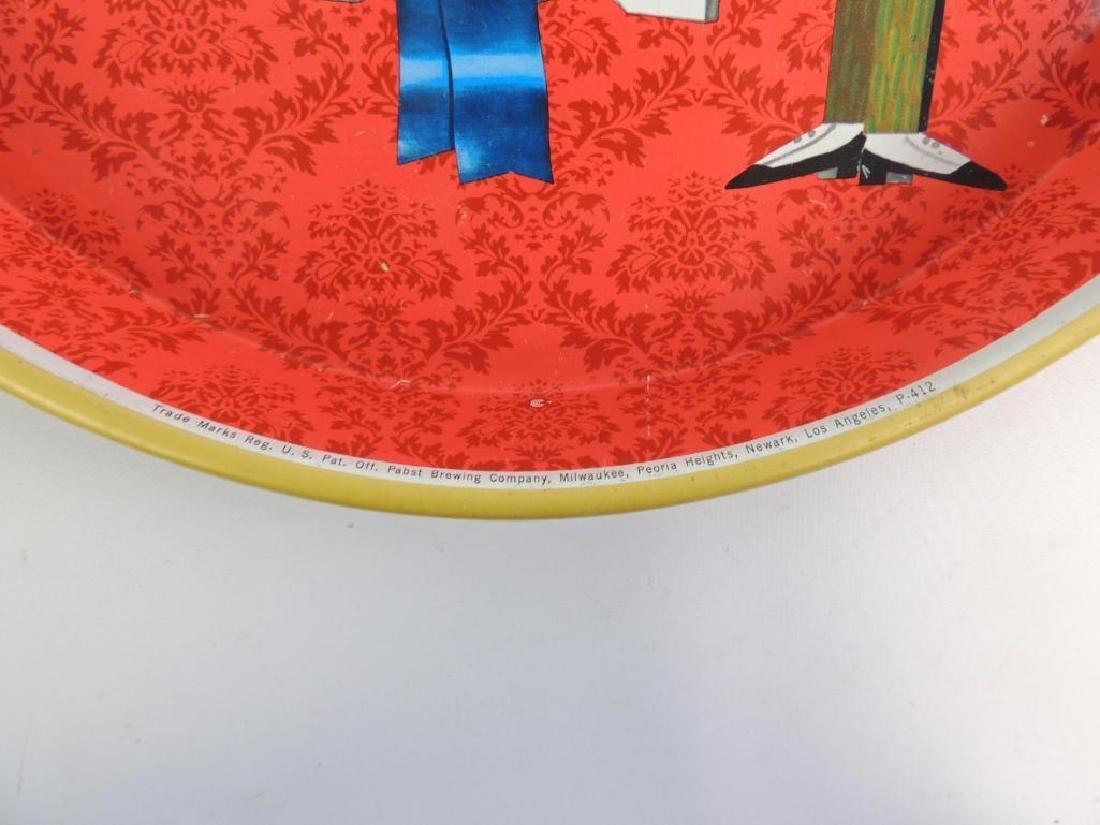 Vintage Pabst Blue Ribbon Advertising Beer Tray - 2