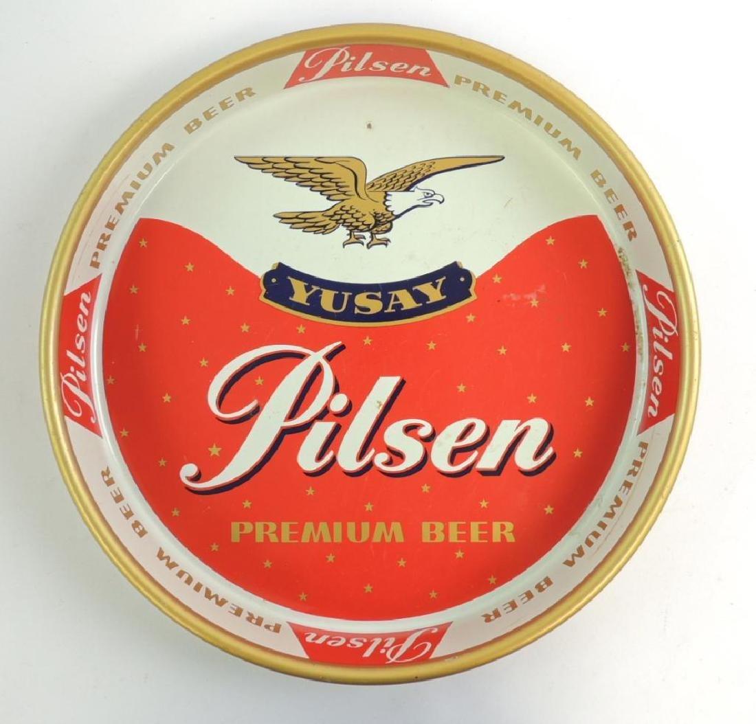 Vintage Yusay Pilsen Beer Advertising Beer Tray