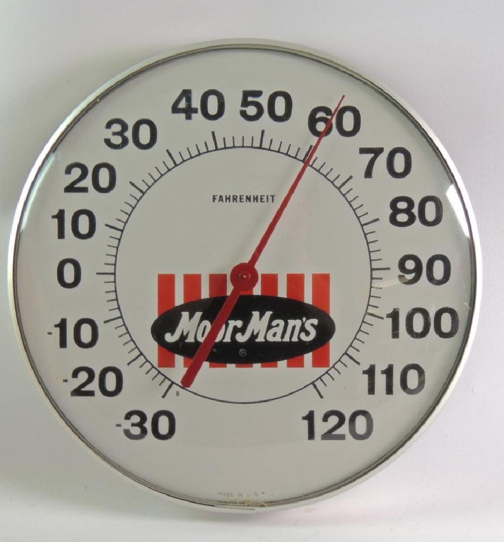 Vintage Moor Man's Advertising Thermometer