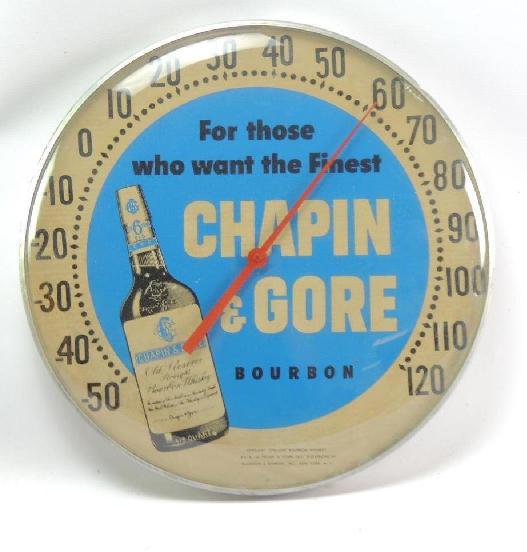 Vintage Chapin & Gore Bourbon Advertising Thermometer