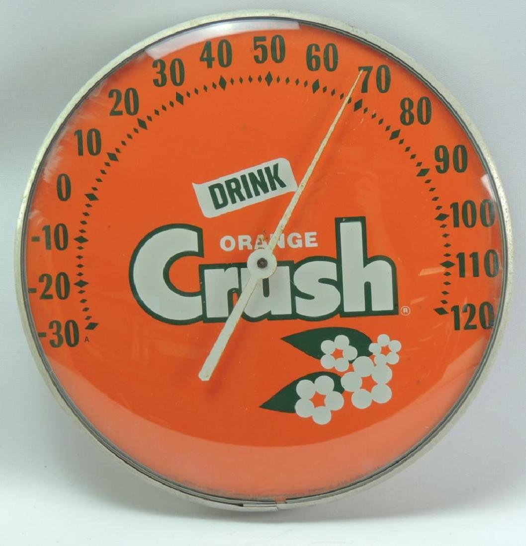 Vintage Orange Crush Advertising Thermometer
