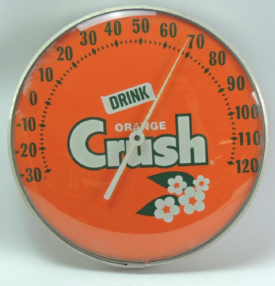 Vintage Orange Crush Advertising Thermometer
