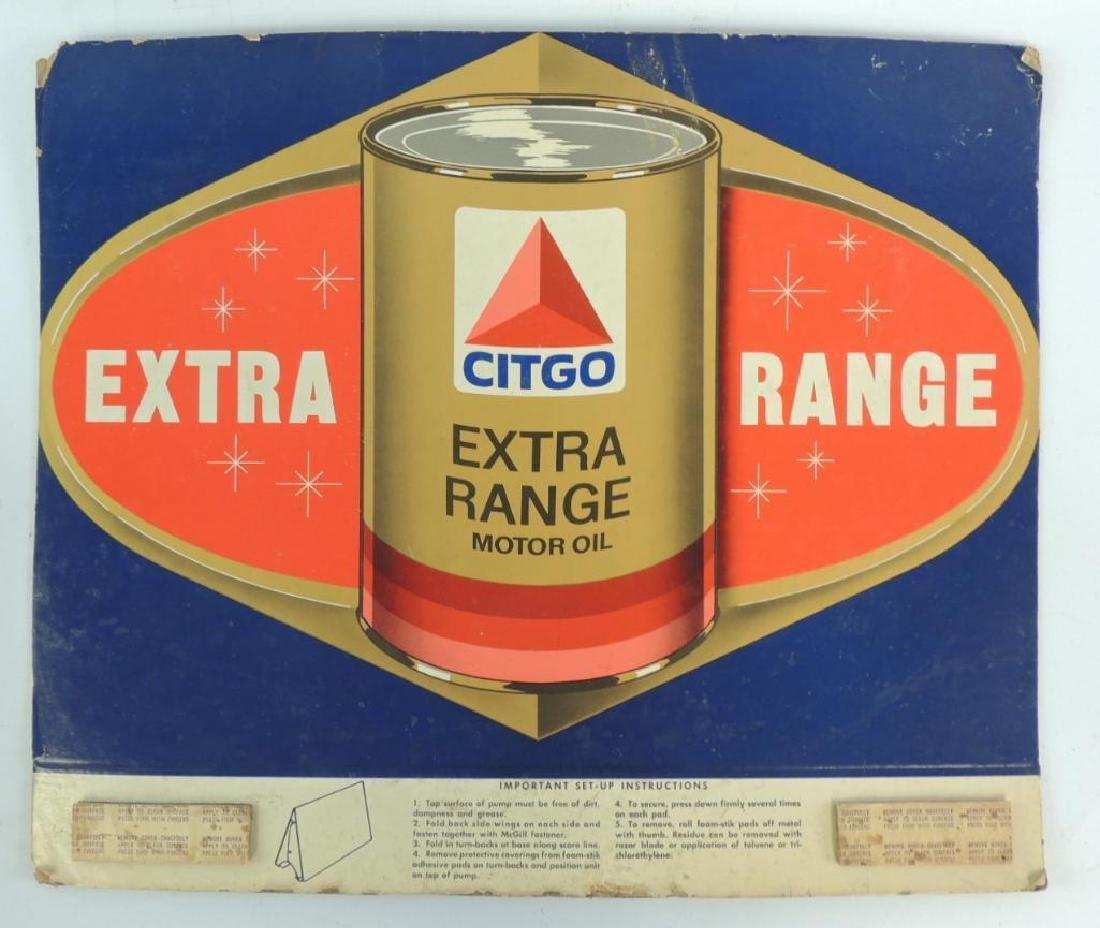 Vintage Citgo Extra Range Motor Oil Cardboard