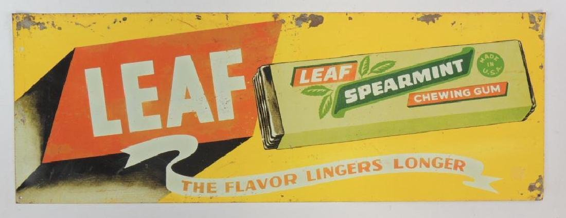 Vintage Leaf Spearmint Chewing Gum Advertising Tin
