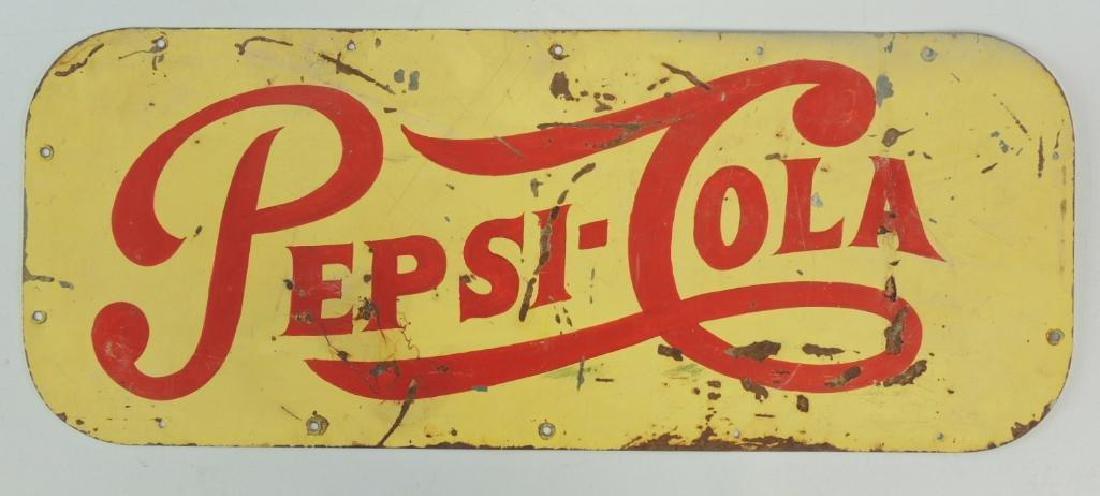 Vintage Pepsi-Cola Advertising Tin Tacker Sign
