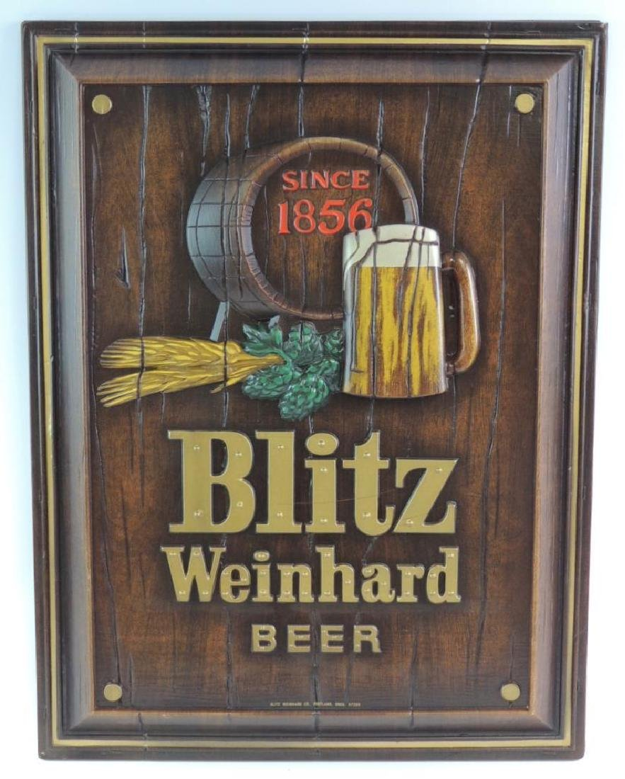 Vintage Blitz Weinhard Beer Advertising Beer Sign