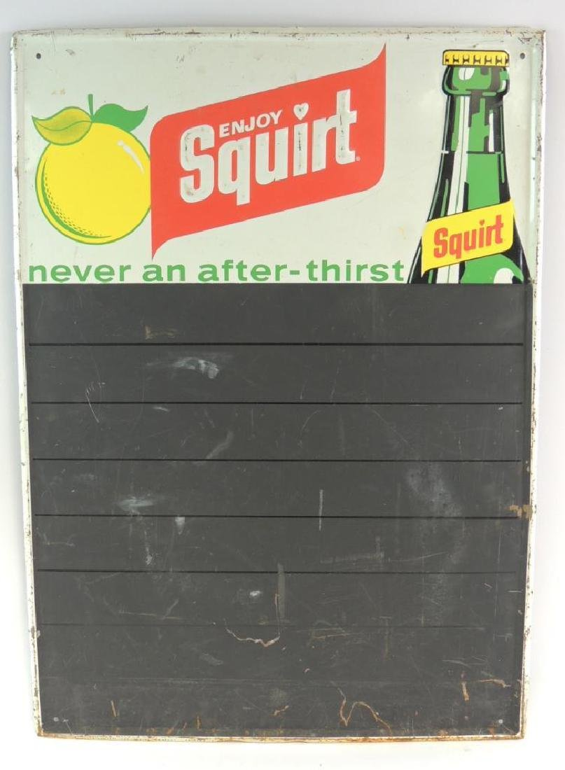 Vintage Squirt Advertising Chalkboard Metal Sign