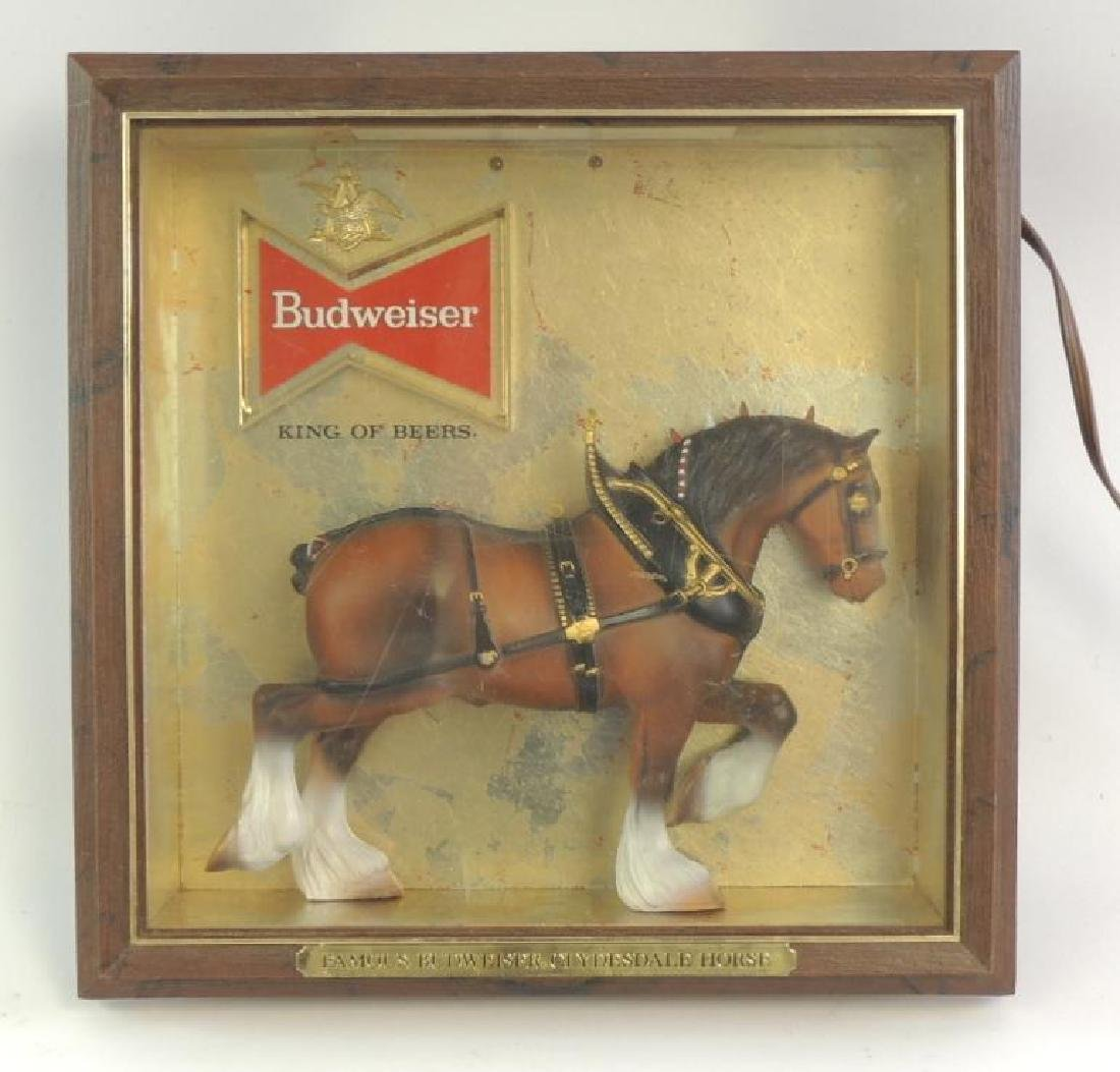 """Vintage Budweiser """"Famous Clydesdale Horse"""" Advertising"""