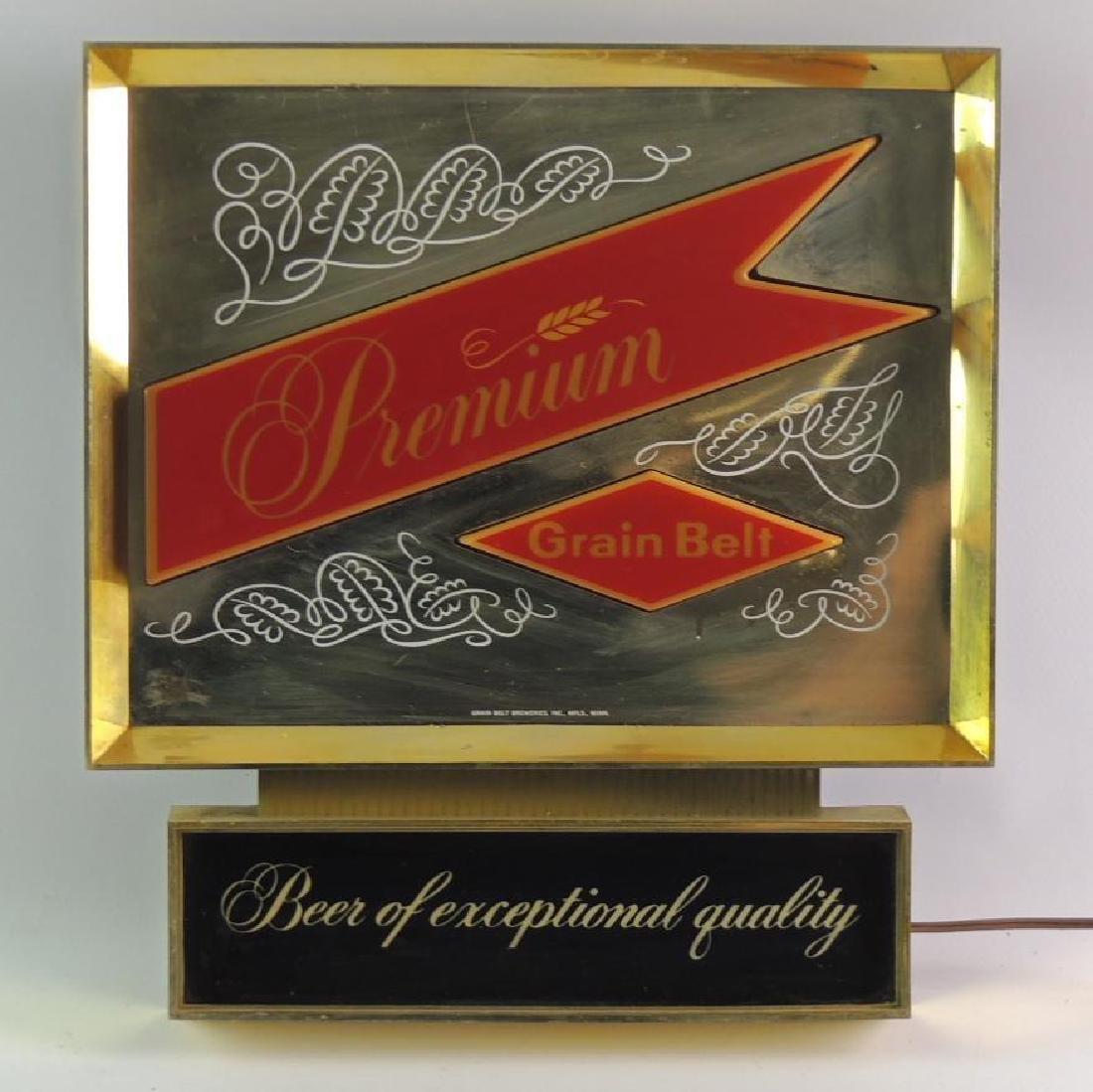 Vintage Premium Grain Belt Beer Advertising Light Up