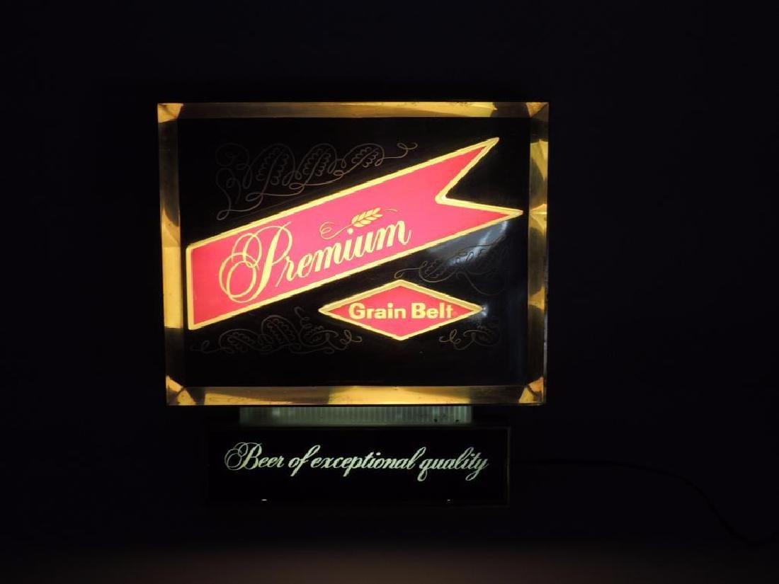 Vintage Premium Grain Belt Beer Advertising Light Up - 2