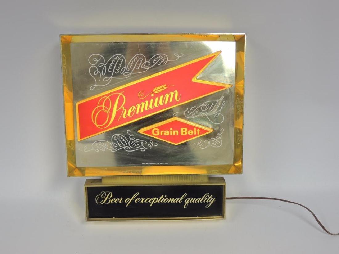 Vintage Premium Grain Belt Beer Advertising Light Up - 3