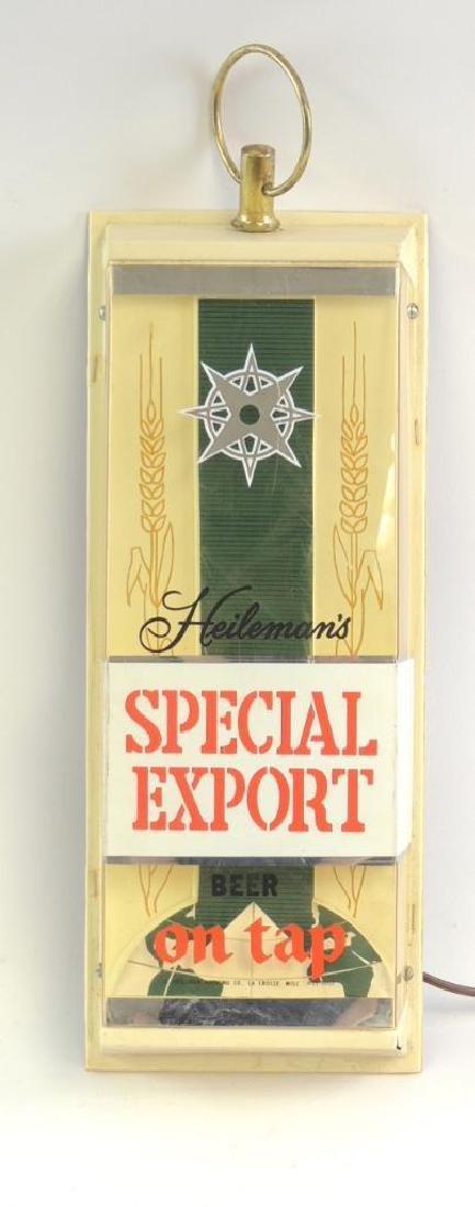 Vintage Heilman's Special Export Advertising Light Up