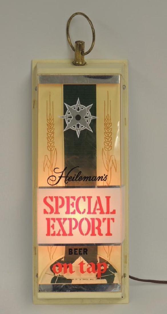 Vintage Heilman's Special Export Advertising Light Up - 2