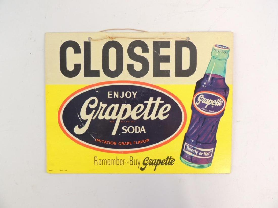 """Vintage Grapette Soda """"Open and Closed"""" Advertising - 2"""